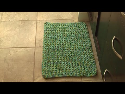 Crochet Floor Area Mat Rug Tutorial Youtube