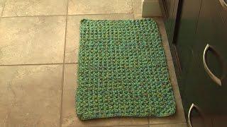 Crochet floor area mat & rug, tutorial