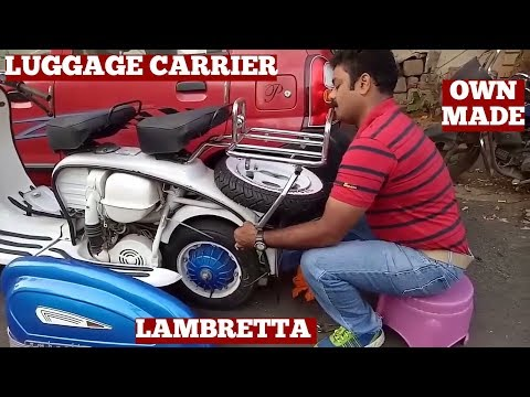How To Make Best Luggage Carrier For Lambretta Scooter-Making Steel Pipe Luggage Carrier On Own-Diy