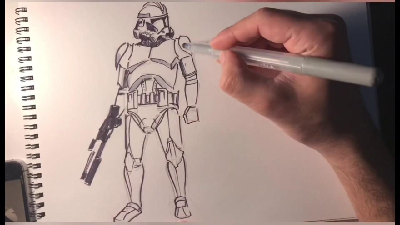 Clone Trooper nasıl çizilir | How to draw clone trooper