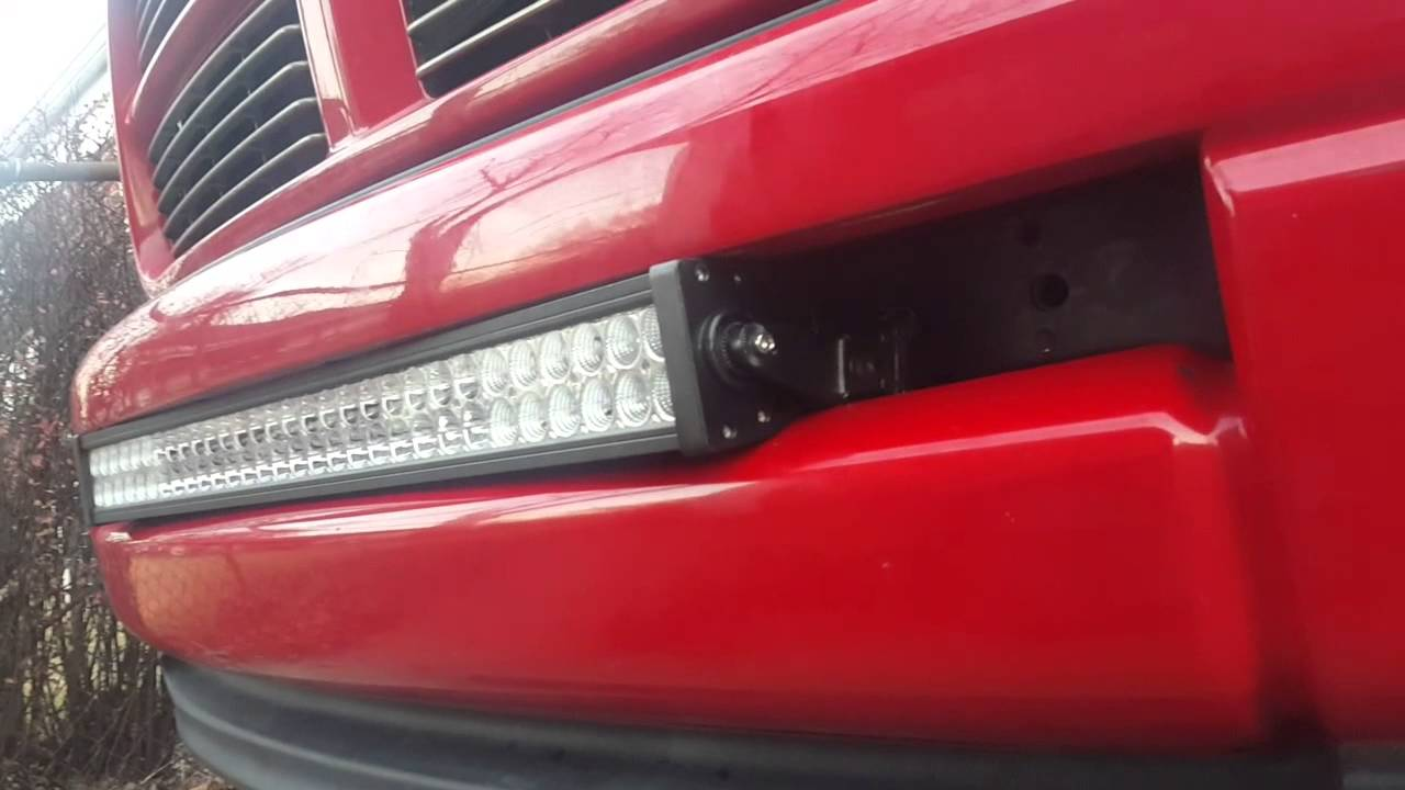 how to install led light bar in dodge ram part 1 [ 1280 x 720 Pixel ]