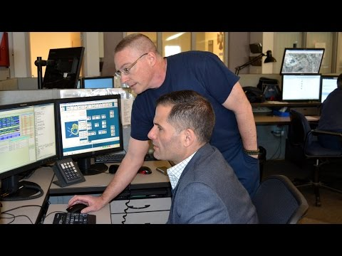 Dutchess County Executive Marc Molinaro gets close look at the work of public safety dispatchers at the Dutchess County Department of Emergency Response E-911 Communications Center.
