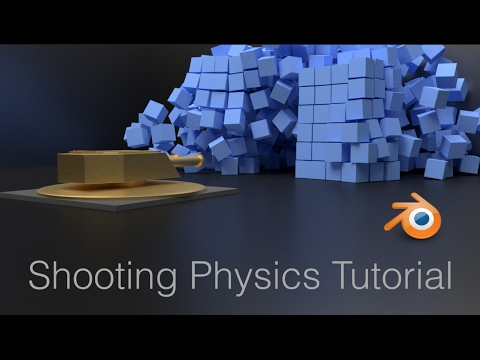 [2 79] Bullet Projectiles Physics Blender Animation Tutorial (Cycles)