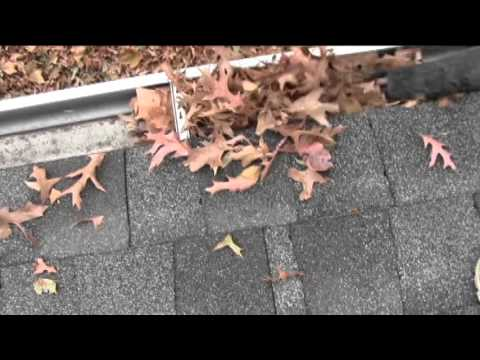 How To Clean Gutters With A Leaf Blower Youtube