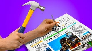 17 PROJECTS WITH NEWSPAPER FOR YOUR HOME