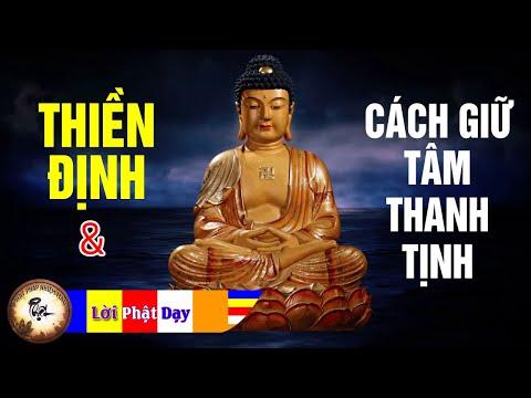Những Lời Phật Dạy Về Thiền Định và Cách Giữ Tâm Thanh Tịnh rất hay Nên nghe 1 lần