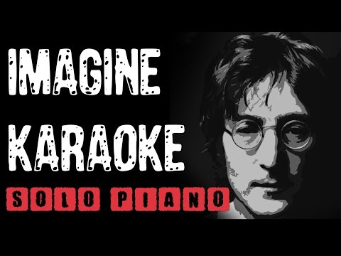 Imagine (KARAOKE) solo piano HD