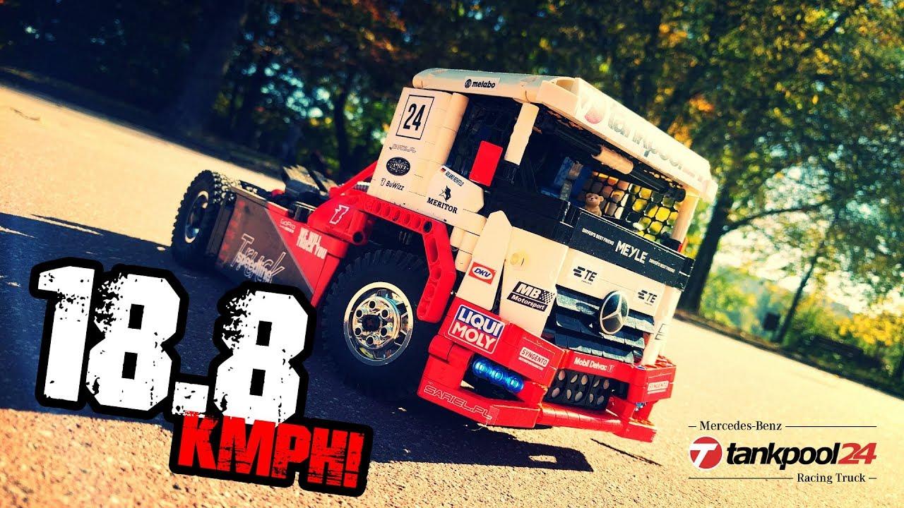 Lego Technic Rc Mercedes Benz Tankpool Racing Truck Youtube