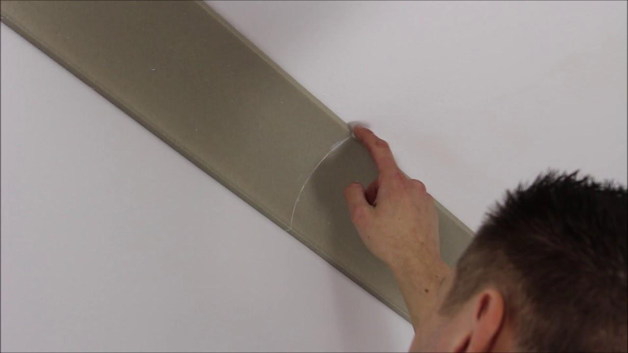 Styropor Deckenleisten Anbringen Und Gehrungschneiden Youtube