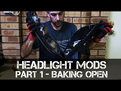 Headlight Modification - Part 1 - How to Bake Open Headlights
