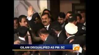 Geo News Summary- SC Disqualifies Gilani