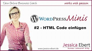 Wp Minis #2 - HTML Code in Wordpress einfügen