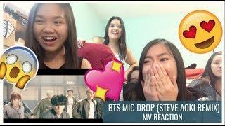 bts 'mic drop (steve aoki remix)' mv reaction