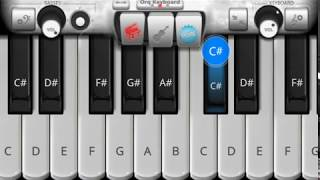mai phir bhi tumko chahunga piano tutorial karaokey , piano music 6699