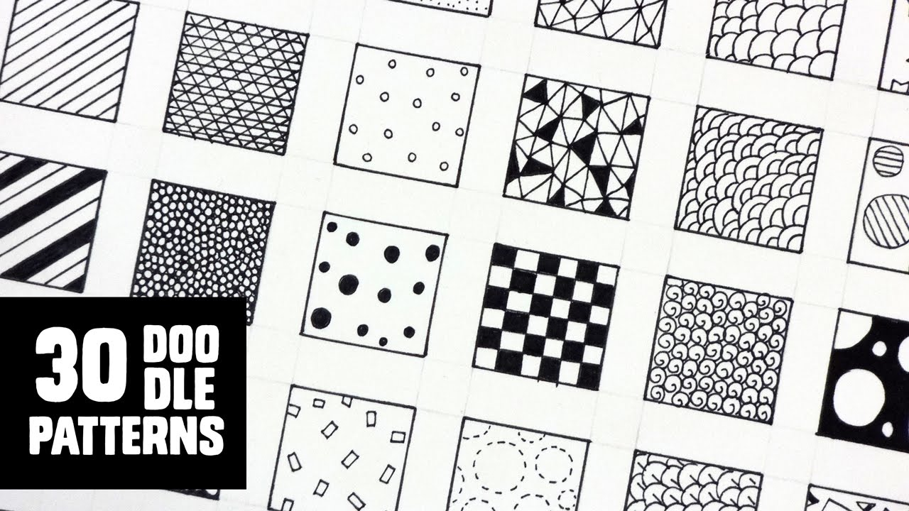 30 Patterns For Doodling Filling Gaps YouTube