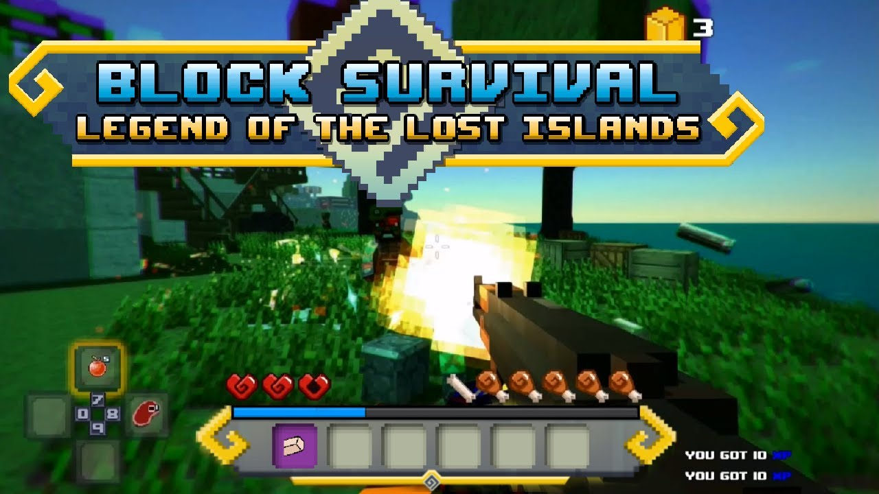 100 Photos of Block Survival Legend Of The Lost Island