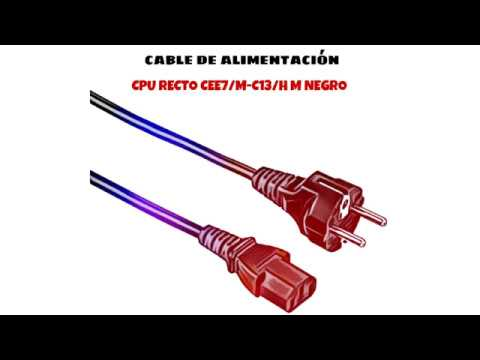 Video de Cable de alimentacion CPU recto CEE7/M-C13/H 2 M Negro