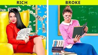 المدرسه الغنيه مقابل المدرسه المفلسه