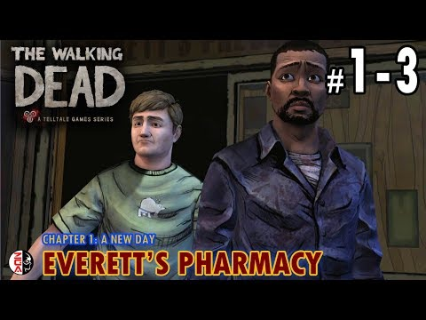 THE WALKING DEAD: THE GAME #1-3 Everett's Pharmacy [PS4] No Commentary