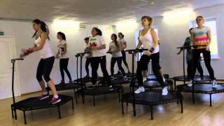 Батут для фитнеса (с ручкой) - видео, прыжки, джампинг-фитнес, отзывы