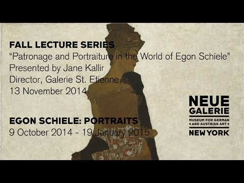 """Patronage and Portraiture in the World of Egon Schiele,"" a lecture by Jane Kallir"