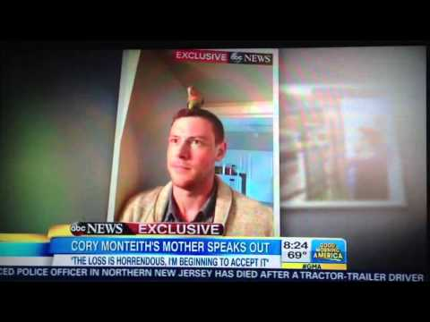 Cory Monteith's Mother on Good morning america