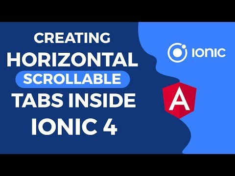 Creating Horizontal Scrollable Tabs Inside Ionic 4