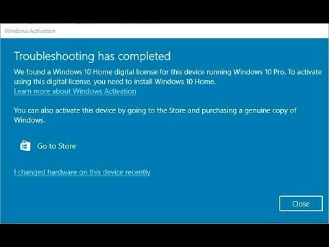 Microsoft деактивирует Windows 10 Pro и понижает лицензию до Домашней версии