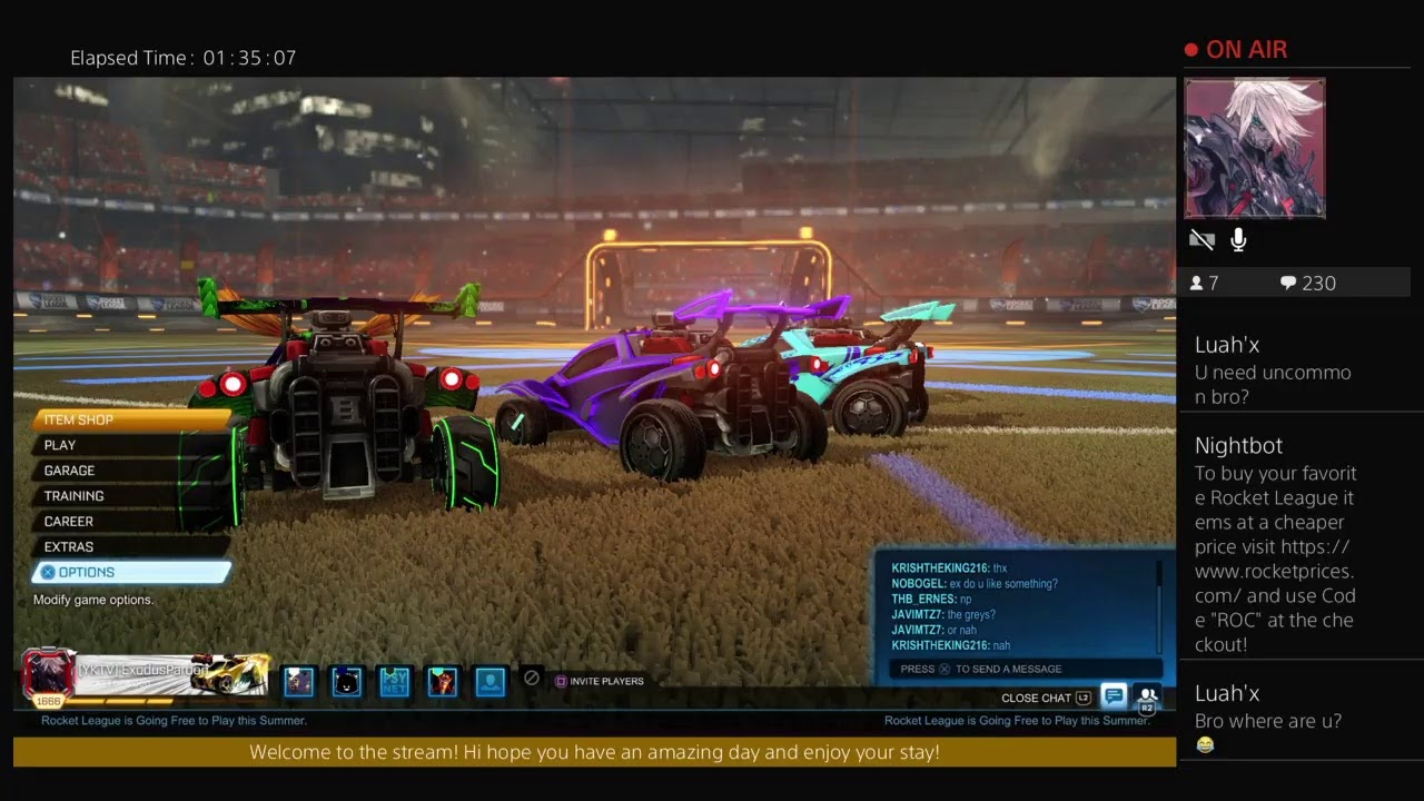 Rocket League Comp 2s grinding, Trading and sudgames welcome.