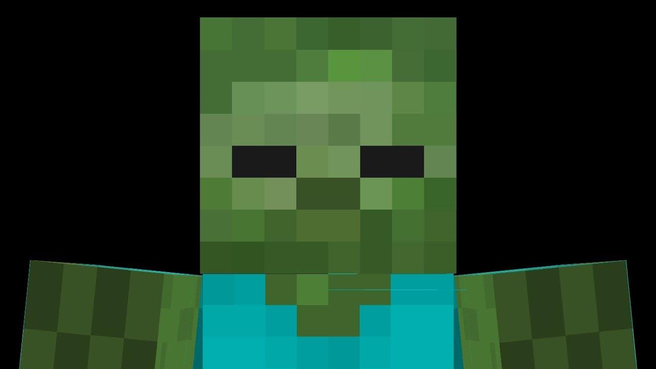 картинка лица зомби майнкрафт