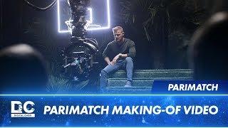 DC зажигает на съемках для Parimatch