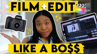 How I Film aฑd Edit My Youtube Videos 2020 | CanonM50, Final Cut Pro, FREE Effects + Color Grading