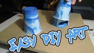 Flip Cup Painting - Easy DIY Art   Painting Wood / MDF