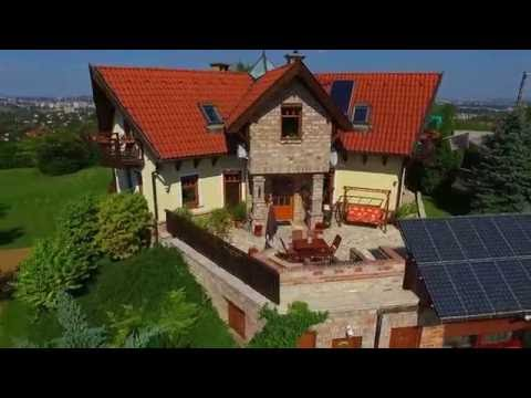 Drone Movie From Luxury Villa With Pool In Budapest
