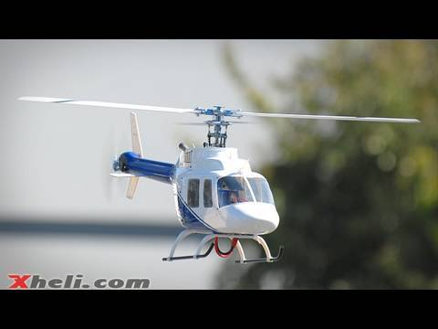 Bell 206 Scale RC Helicopter w/ Blue Ray 450