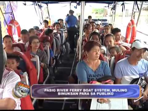 Pasig River ferry boat re-opens for public