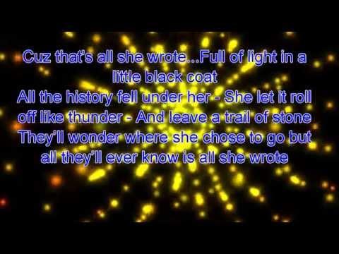 COZI ZUEHLSDORFF That's All She Wrote Lyric :)