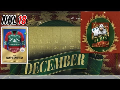 NHL 18 CHRISTMAS EVENT DETAILS! -- New sets, challenges, packs, and a new jersey!