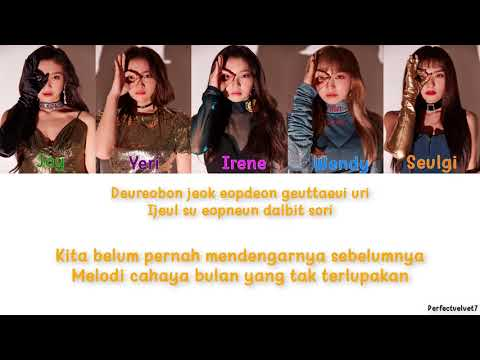 Red Velvet (레드벨벳) - Moonlight Melody Lyric (Color Coded Lyric Indonesian|Romanized)