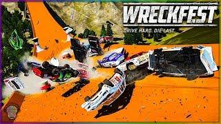 NASCAR HOT WHEELS TRACK MADNESS!   Wreckfest   NASCAR Legends Mod