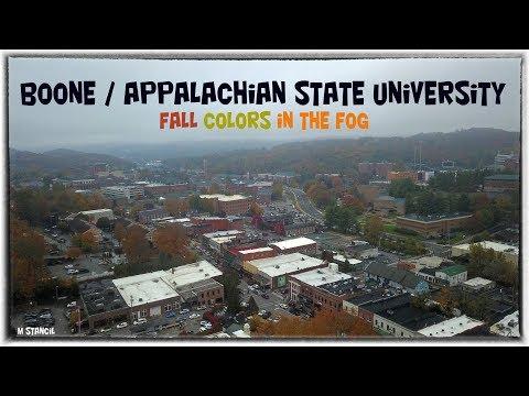 Boone, NC  Downtown - Appalachian State University - Fall Time (DJI Mavic Pro Footage)