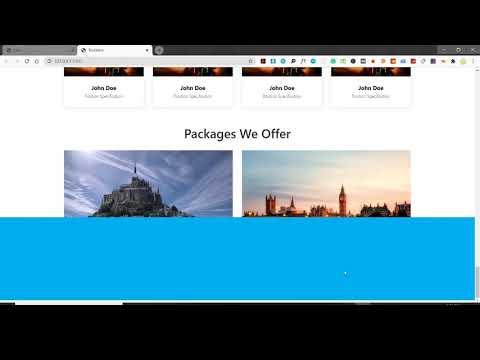 Travel Website | Part-3 | Travel & Tourism Website | How To Create A Website | Website Design | HTML