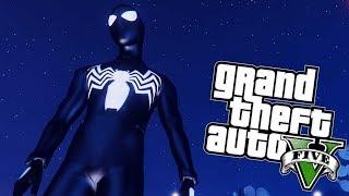 GTA V : HOMEM ARANHA COM O UNIFORME NEGRO NA BASE MILITAR (SPIDER MAN HOMECOMING MOD)