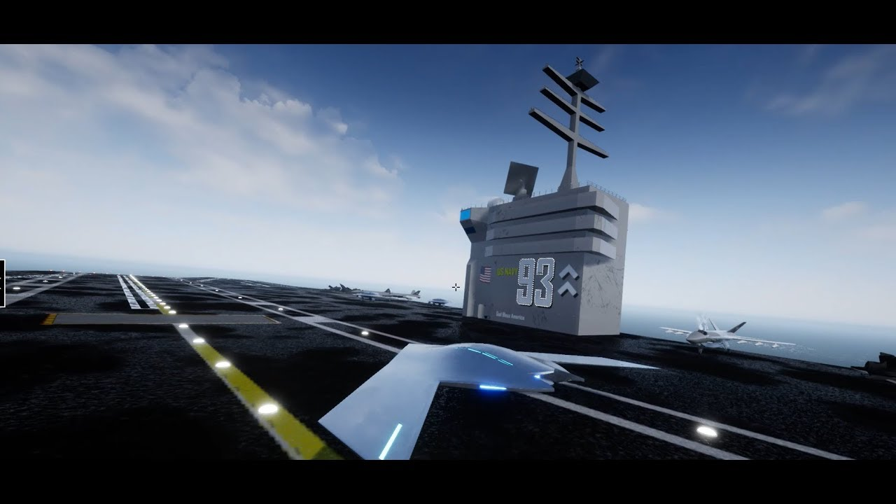 Unreal Engine 4 Aircraft Carrier Map Tour - YouTube