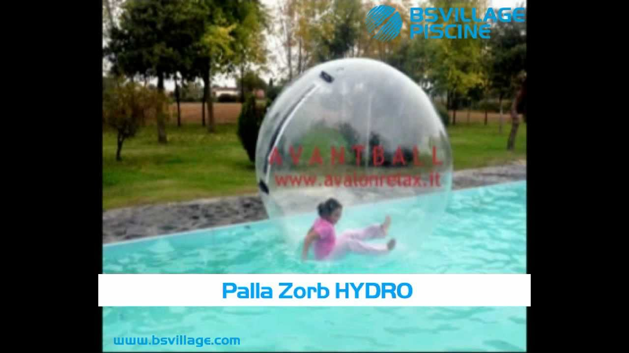 Palla zorb hydro per zorbing in youtube for Palla gonfiabile per piscina