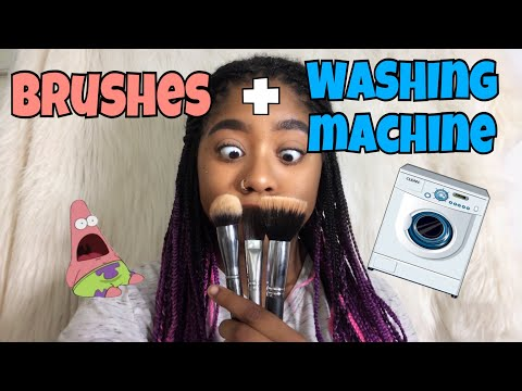 THROWING MY BRUSHES IN THE WASHER?!?! | 2 Foolproof Ways to Wash Makeup Brushes👍🏽