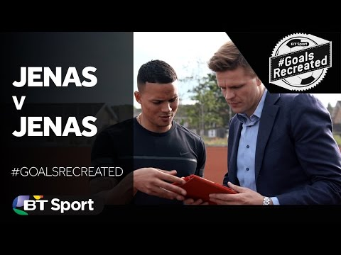 Jermaine Jenas tries to recreate his own volley against Sunderland  GoalsRecreated New Flash Game