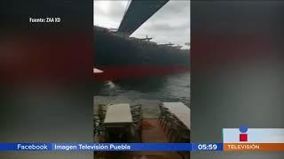 Se estrella buque contra mansión    Noticias con Juan Carlos Valerio