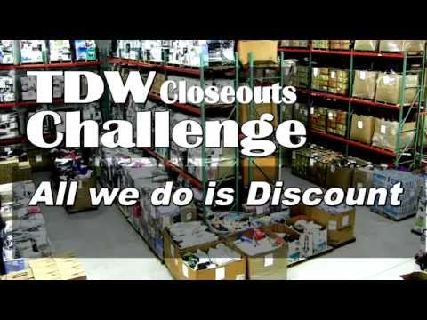 TDW Closeouts (Closeout Liquidation) Department Store Closeout Liquidators Challenge