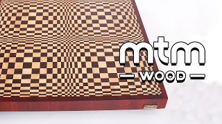 "Making a ""Butterfly"" 3D end grain cutting board. Optical illusion. 3D effect. http://mtmwood.com/en/3d.php Plans are here: ..."